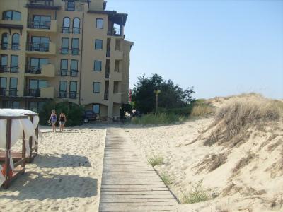 Lejárat a strandra